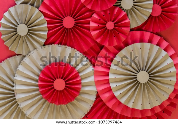 Paper Fan Tutorial Origami Flowers Simple Stock Photo (Edit