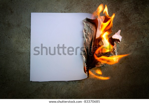 The paper was a fire burning