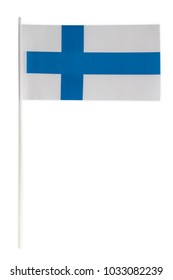Paper Flag Finland from isolated on white background
