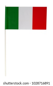 Paper Flag from Italy isolated on white background