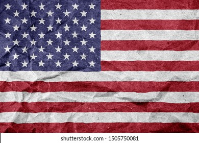 paper Flag USA as a patriotic background
