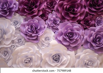 paper flowers as a background or decor