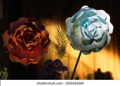 Paper flowers decoration ideas big size for events