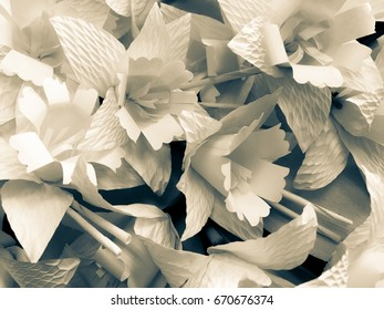 paper flowers for the funeral