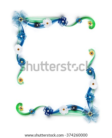 Paper Flowers Quilling Frame Stock Photo (Edit Now) 374260000 ...