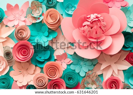 Paper Flowers Red Pink Paper Flowers Stock Photo Edit Now