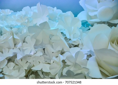 Paper flower,White paper flowers,Artificial Flowers.