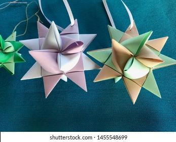 Paper folded German or Moravian stars
