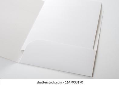 A Paper Folder On White Background
