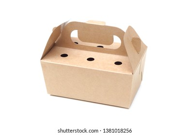 Paper food storage box isolated on white background