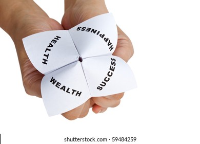 Paper Fortune Teller,concept of life balance