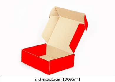 Paper gift box isolate in white background.