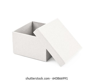 Paper gift box isolated over the white background