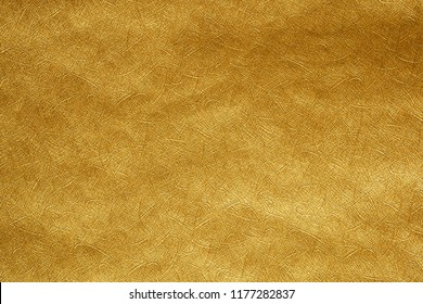 Paper gold sheet abstract background texture and elegant for Merry christmas and Happy new year