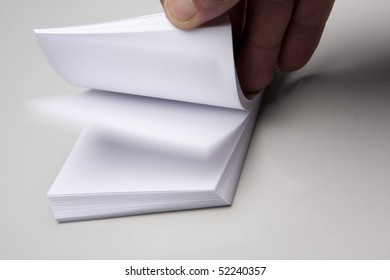 Paper with hand