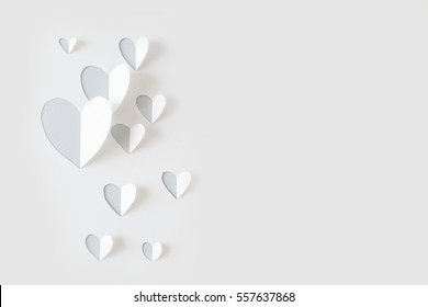 Paper heart cut from paper.