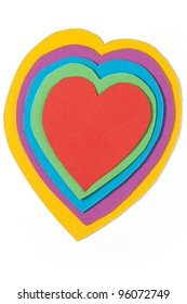Paper heart. Path included.