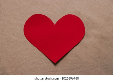 Paper heart for Valentines day or wedding