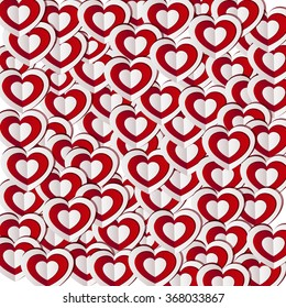 Paper hearts , Valentine's day holiday