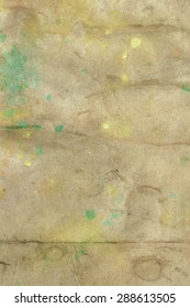 paper with ink-stained
