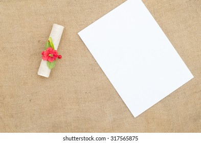 paper and invitation letter
