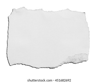 paper isolated over white background with clipping path.
