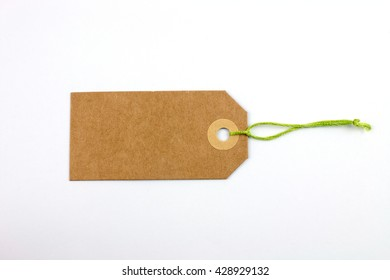 Paper Label with Green Thread.