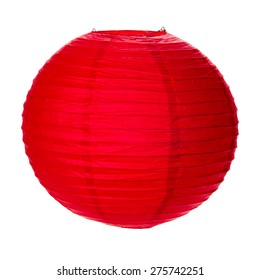 Paper Lantern isolated on white background