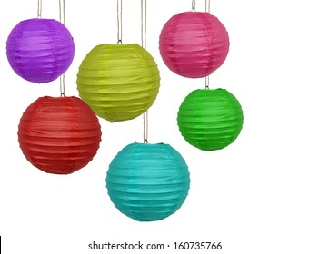 Paper lanterns in different colors
