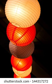 Paper lanterns at the festival.