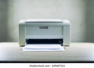 paper in the laser printer