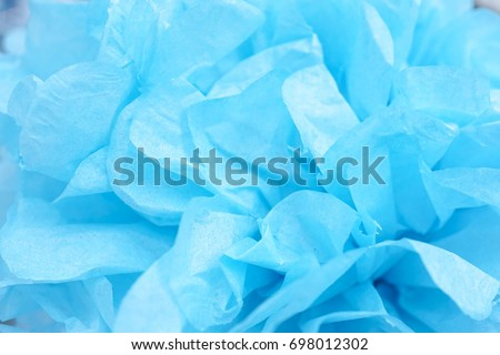 Paper Mache Flowers Closed Details Blue Stock Photo Edit Now