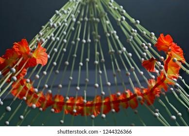 Paper made flowers of a decoration unique photo