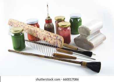 Paper marbling tools ,ebru malzemeleri