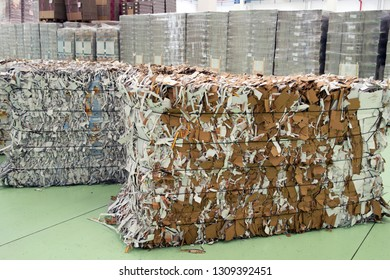Paper mill plant - Waste paper recycling.