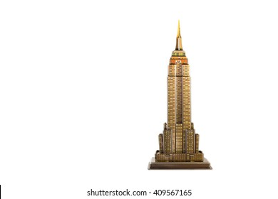 Paper model isolated from white background.