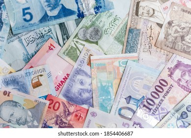 Paper money background of the different countries