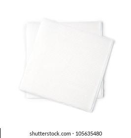 Paper Napkin on white background