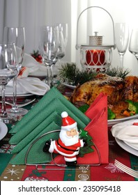 Paper napkins serving as an element of the Christmas table