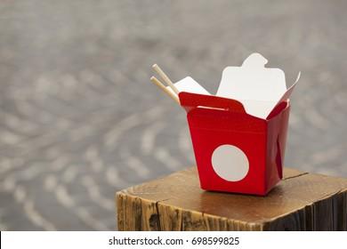 Paper Noodles Box with chopsticks