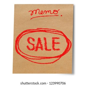 Paper note stick on wall sale