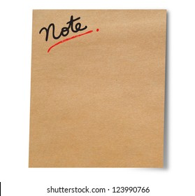 Paper note stick on wall