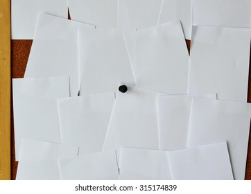 paper on notice board