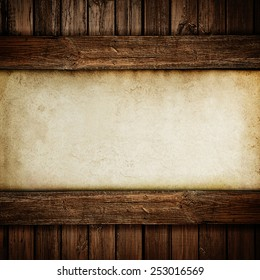 Paper on wood background or texture
