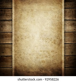 paper on wood plank