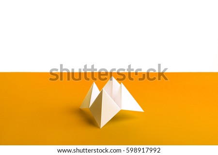 Paper Origami Fortune Teller Stock Photo Edit Now 598917992