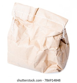Paper packaging, isolated on a white background