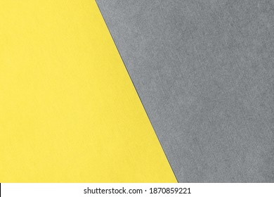 Paper for pastel overlap in trendy yellow and grey colors for background, banner, presentation template. Color 2021 concept. Creative modern background design in trendy colors. - Shutterstock ID 1870859221