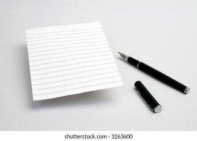 paper with pen