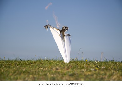 Paper plane crash